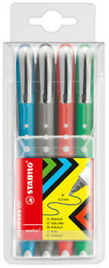 Stabilo Worker Rollerball Pen - Assorted Colours (Pack of 4)
