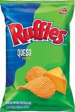Frito Lay Ruffles Queso Flavored Potato Chips, 6.5oz Bags (Pack of 8)