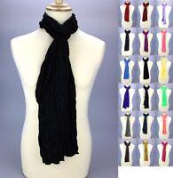Écharpe Foulard Chèche Pour Homme Femme Fille Garçon Coton Unis 180 x 45 cm