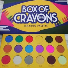 Box of Crayons Make Up Eyeshadow Palette Shimmer Eye Shadow 18 Colors Best Gift