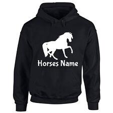 Adult Custom Horse Hoodie Your Horses Pony Name Personalised Mens Ladies Hooded