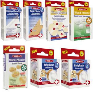 WUNDmed Pflaster verschiedene Arten und Größen Wundpflaster Packung Erste Hilfe