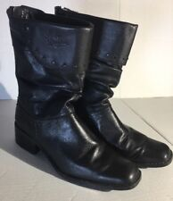 Harley Davidson Black LEATHER LowCut Slouched Motorcycle Boots Women US SIZE 7.5