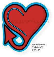 Plymouth Makes It Heart Sticker 033-01-02
