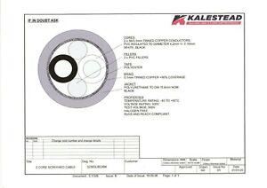 KALESTEAD 2 CORE 56/0.3MM (4.0MM2) PVC/PUR WHITE-BLACK/BRAID BLACK 225 MTS