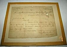 1883 Letter Baltimore County Police Department  Policeman Jos. Smith Hired
