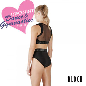 CLOSING DOWN SALE - 75% OFF - Bloch Zipper Elastic Crop