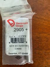 New Listingvermont Gage 2905 Pin Gage Qty1 Brand New
