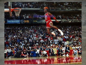 NBA Michael Jordan Chicago Bulls Airborne Color 8 X 10 Photo Picture
