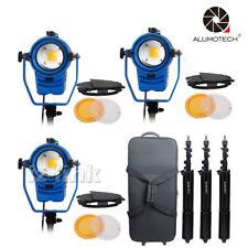 3*100W LED Bi-color Dimmable Fresnel Video Spotlight Studio Camera Lighting Kit