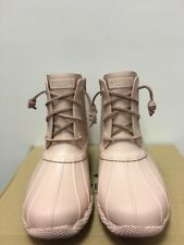 New - Women's Sperry Top Sider Saltwater Flooded Rose Duck Boots Size 7