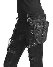 Punk Rave HIP BAG BLACK Steampunk dieselpunk goth vintage Faux Leather Satchel LARP