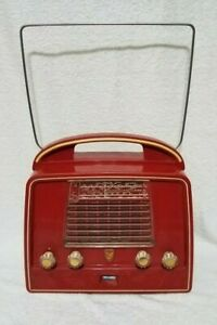 Phillips Vintage Radio Red LX444 AB 03 Works well!