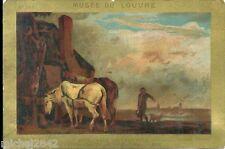 Chromo Musée du Louvre N° 399 Paulus Potter Chevaux tableau peintre peinture