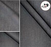 "Denim Medium weight Washed 100% Cotton Premium Fabric Material High Quality 58"""