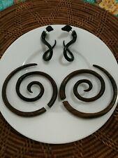Large Fake Spiral Gauge Earring + Snake Water Buffalow Horn
