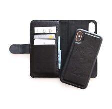 Black Genuine Leather Wallet iPhone 7/8 Plus Case - Australian stock!