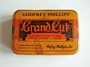 Godfrey Phillips Grand Cut Hinged Tobacco Tin 2oz 2 Ounces No.33092