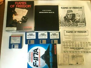 Flames of Freedom Amiga 500 Game  1991 Commodore Microprose Microplay Complete