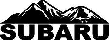"****8"" SUBARU MOUNTAINS DIE CUT STICKER OUTBACK JDM WRX STI WAGON CROSSTREK****"