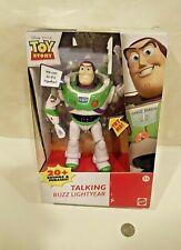 Disney Pixar TOY STORY Talking Buzz Lightyear deluxe 2017 Mattel works in box