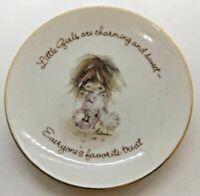 "American Greeting Last Treasures 4"" Plate Gold Rimmed ""Little Girls..."""