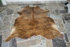 BRINDLE EXOTIC-  Rug HAIR ON SKIN  Leather cowhide 4384-   66'' x  56''
