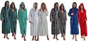 Extra lange Damen und Herren Bademäntel mit Kapuze aus 100% BIO Baumwolle