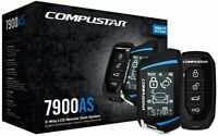 Compustar CS7900AS  3000ft MAX Remote Start+Alarm LCD Remote  Siren Shock Sensor