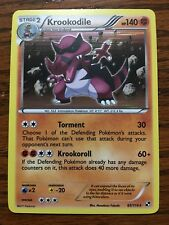 KROOKODILE Holographic Pokemon Card BLACK & WHITE New 65/114 Mint / Near Mint