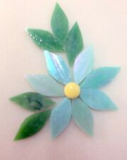 Pistachio Ice Flower for Mosaic with handcut Petals, 13 pieces.