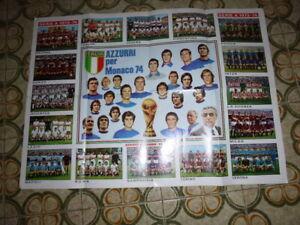 EDIZ. PANINI  POSTER  RARISSIMO  CAMPIONATO 1973-74 E MUNCHEN 74 INTER MILAN ...