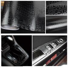 3D Krokodilleder Muster Auto Vinylverpackung aufkleber folie Schwarz Wasserdicht