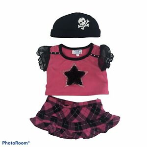 BUILD-A-BEAR Girl's Outfit Lot of 3 Pieces Inc. Skirt, top, pirate hat