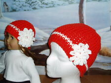 Matching Orange Hats Girl Doll Clothes Fit American Girl Hand Crocheted