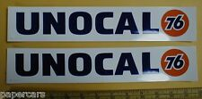 """Pair 1993 Unocal union 76 NASCAR NHRA Drag Racing vintage decal stickers LG 13"""""""