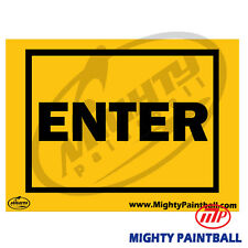 Paintball Safety Sign - Enter (Mp-Fe-S010)