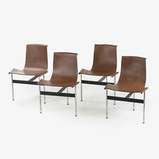 Katavalos Littel and Kelley T Chairs for Laverne International in Brown Leather