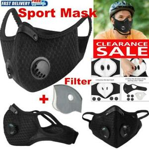 Cycling Face Mask Active Carbon Filter Breathing Valves Reusable Sport Masks Lot