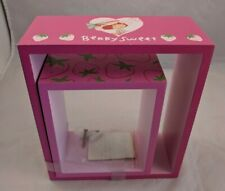 Strawberry Shortcake Bandai Era Girls Room Decor Box Shelf Frames Lot of 2 Pink