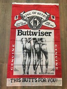 Huge Buttweiser Buttwiser Flag  Flag budweiser beer banner, 3'x5'