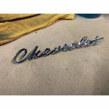 1960 - 1961 Chevrolet Truck C20 C10 Chevy Apache Deluxe Glove Box Script Emblem