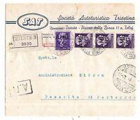 Venezia Giulia - A.M.G. V.G- 1945/47 -  Raccom per Fossalto di Port - 19-12-1945