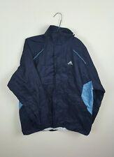 VINTAGE Festival Sportswear ZIPUP Athletic ADIDAS Pioggia MAC Cappotto Cagoule Impermeabile S