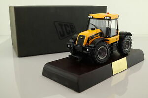 ERTL 40572; JCB 3185 Fastrac; Yellow and Black on Plinth; Excellent Boxed