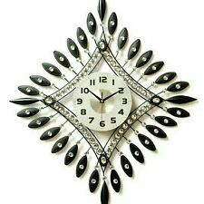 Xlarge Handmade Large Stylish Diamante Wall Clock 60cm