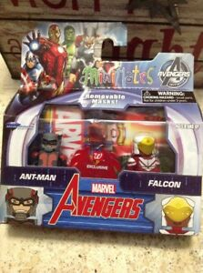 Marvel Minimates AVENGERS Walgreens AntMan FAlcon NEW - Fast Free Shipping