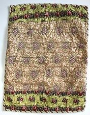 Pottery Barn Quilted Patchwork Standard Pillow Sham Pink Green Stripe Floral