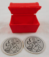 Vintage Captain Crunch Cereal Red Treasure Chest 2 Coins Cap'n