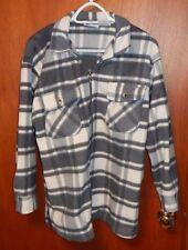 Women's White/Gray Fleece Zippered Jacket, Out Brook, Small